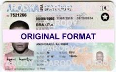 Alaska identity new identity novelty id software cards pvc id for alaska new ids, props film id cards alaska