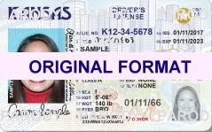 kansas fake id scannable with holograms id card