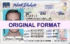 buy north dakota fake id scannable novelty fak eid with holograms